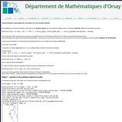 Département de Mathématiques d'Orsay