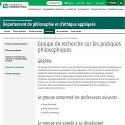 GREPPH - Groupe de recherche sur les pratiques philosophiques