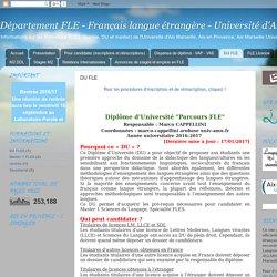 Département FLE - Français langue étrangère - Université d'Aix Marseille: DU FLE