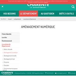 Charente - Aménagement numérique