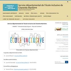 Service départemental de l'école inclusive de Charente-Maritime – DSDEN de Charente-Maritime