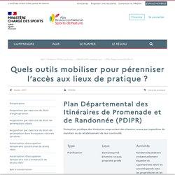 Plan Départemental des Itinéraires de Promenade et de Randonnée (PDIPR)