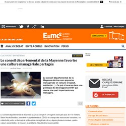 Le conseil départemental de la Mayenne favorise une culture managériale partagée