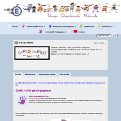 Site du groupe départemental Ecole Maternelle dans le Rhône