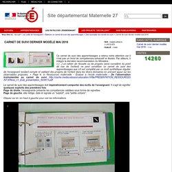 Site départemental Maternelle 27 - Carnet de suivi dernier modèle mai 2016
