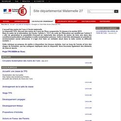 Site départemental Maternelle 27 - Enseigner en Toute Petite Section (Dispositif TPS)