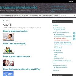Service départemental de l'école inclusive (86) – Adapation scolaire et élèves à besoins éducatifs particuliers