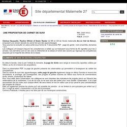 Site départemental Maternelle 27 - Une proposition de carnet de suivi