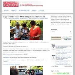 Stage iPad – Médiathèque Départementale