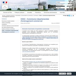 CDAC - Commission départementale d'aménagement commercial / Commerce / Alimentation, consommation et commerce / Politiques publiques / Accueil - Les services de l'État dans la Somme