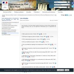 """Les études / Unité départementale de l'Architecture et du Patrimoine de l'Eure des """"Bâtiments de France"""" / Culture / Services de l'Etat / Accueil - Les services de l'État dans l'Eure"""