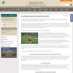[Département de le Haute Loire] - La politique agricole départementale