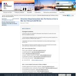Direction Départementale des Territoires et de la Mer de l'Hérault (DDTM 34) / Agriculture, environnement, aménagement et logement / Services de l'Etat / Accueil - Les services de l'État dans l'Hérault