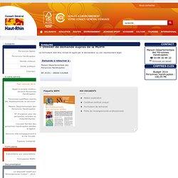 Dossier de demande auprès de la MDPH - Maison Départementale des Personnes Handicapées - A votre service - CG68 - Conseil Général du Haut-Rhin