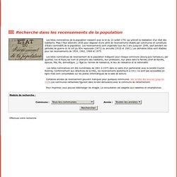 Archives départementale du Gers - Recensement de la Population