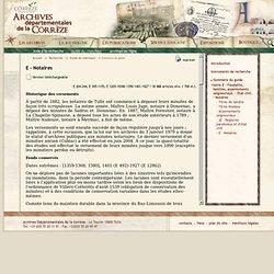 Archives départementales Corrèze : archives administratives judiciaires prives département Corrèze