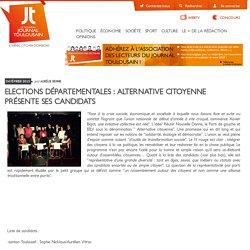 Elections départementales : Alternative Citoyenne présente ses candidats