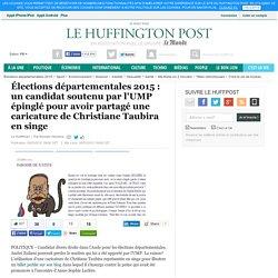 Élections départementales 2015 : un candidat soutenu par l'UMP épinglé pour avoir partagé une caricature de Christiane Taubira en singe