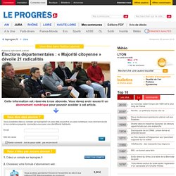 Élections départementales : « Majorité citoyenne » dévoile 21 radicalités