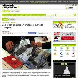 Les élections départementales, mode d'emploi - 16/03/2015