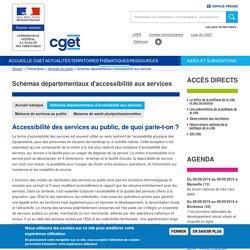 Schémas départementaux d'accessibilité aux services