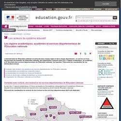 Les académies et les inspections académiques - Ministère de l'éducation nationale