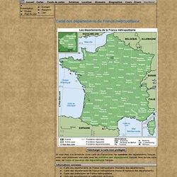 Carte des départements de France métropolitaine
