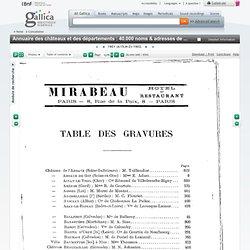 T5 Annuaire des châteaux et des départements : 40.000 noms