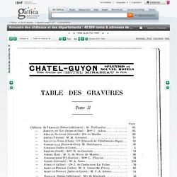 T7 Annuaire des châteaux et des départements : 40.000 noms