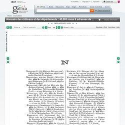 T2 (N-Z)1909 - 1910 Annuaire des châteaux et des départements : 40.000 noms