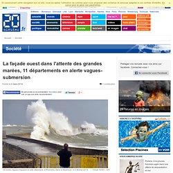 La façade ouest dans l'attente des grandes marées, 11 départements en alerte vagues-submersion