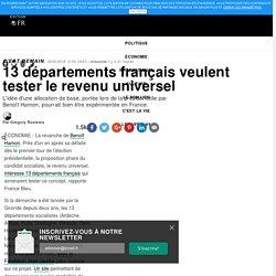 13 départements français veulent tester le revenu universel