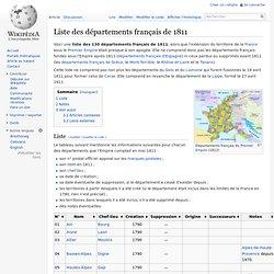 Liste des départements français de 1811