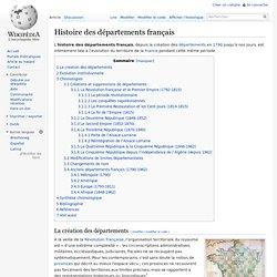 Histoire des départements français
