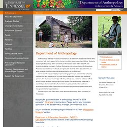 UT Knoxville | College of Arts & Sciences - Department of Anthropology