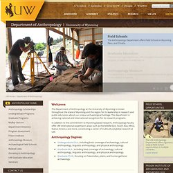 Anthropology Degree | Department of Anthropology | University of Wyoming