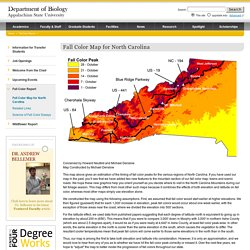 Fall Color Map for North Carolina