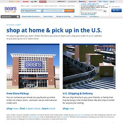 Sears: Online department store featuring appliances, tools, fitness equipment and more