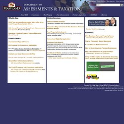 Maryland State Department of Assessments and Taxation