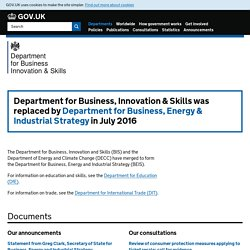 UK Department for Business, Innovation and Skills | BIS