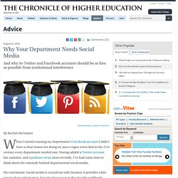 Why Your Department Needs Social Media - Advice