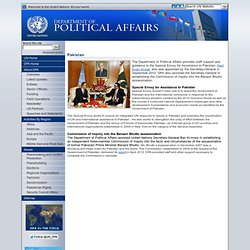 ited Nations Department of Political Affairs - Pakistan (Bhutto Commission)