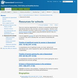 Resources for schools - Community Services, Department of Communities, Child Safety and Disability Services (Queensland Government)