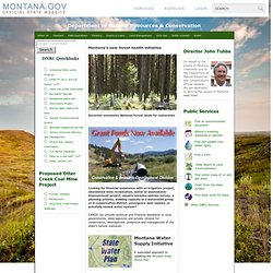 Department of Natural Resources and Conservation Homepage