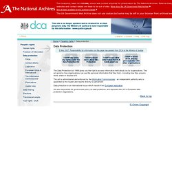 Department for Constitutional Affairs - Data Protection - Data Protection
