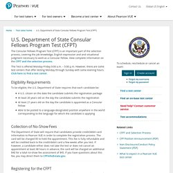 U.S. Department of State Consular Fellows Program Test (CFPT)
