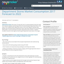 Department Stores Market Consumption 2017 Forecast to 2022