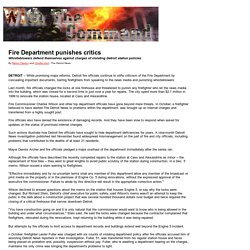 With The Command - Detroit Fire Department- controversy continues