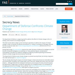 Department of Defense Confronts Climate Change
