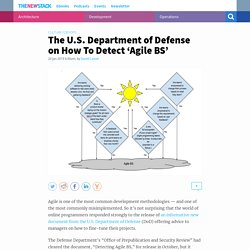 The U.S. Department of Defense on How To Detect 'Agile BS'